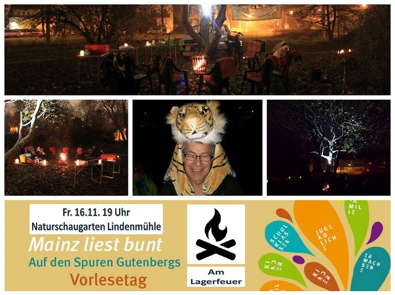 """""""Auf den Spuren Gutenbergs"""", so heißt die Lesung an Lagerfeuer am 16.11.2018"""