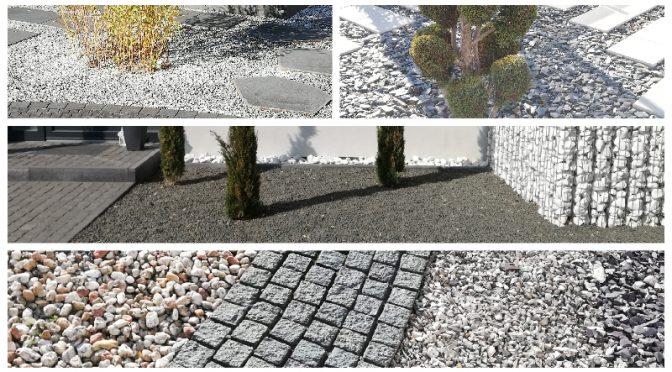 Das Bild zeigt eine Collage von Steingärten.